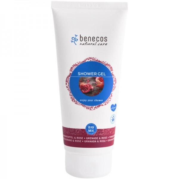 Shower Gel Granatapfel & Rose, 200ml - Benecos