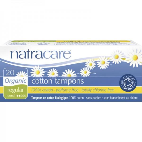 Tampons 'regular' Bio-Baumwolle, 20 Stück - Natracare