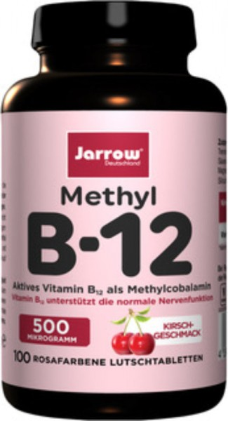 Methyl B12 500 µg Lutschtabletten Kirsche, 100 Stück - Jarrow