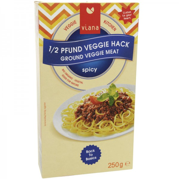 1/2 Pfund Veggie Hack Bio, 250g - Viana