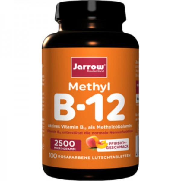 Methyl B12 2500 µg Lutschtabletten Pfirsich, 100 Stück - Jarrow