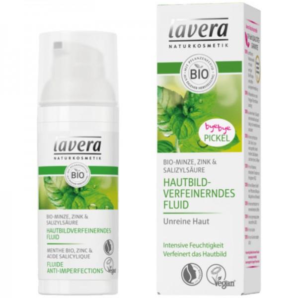 Hautbildverfeinerndes Fluid Bio-Minze, 50ml - Lavera