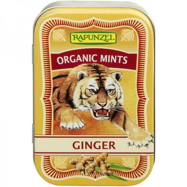 Organic Mint Ginger Bonbons Bio, 50g - Rapunzel