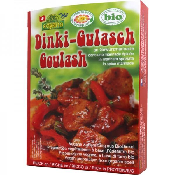 Dinki-Gulasch an Gewürzmarinade Bio, 200g - Soyana