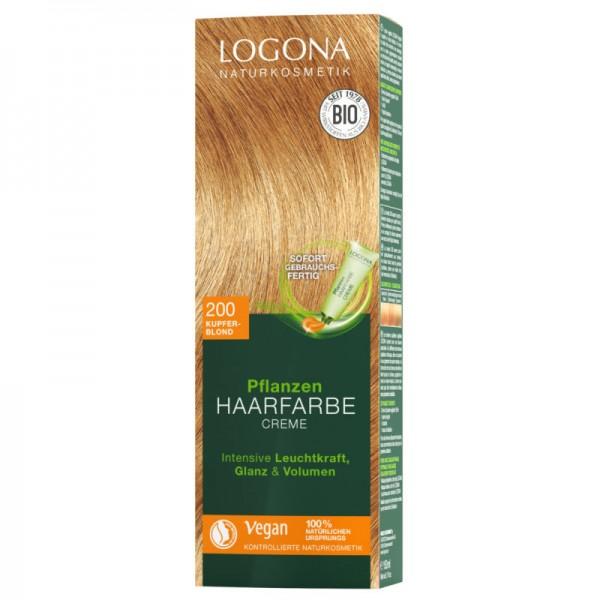 Pflanzen Haarfarbe Creme 200 kupferblond, 150ml - Logona