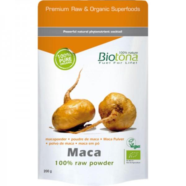 Maca Raw Powder Bio, 200g - Biotona