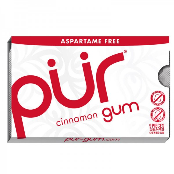 Kaugummi cinnamon gum, mini 12.6g - pür gum