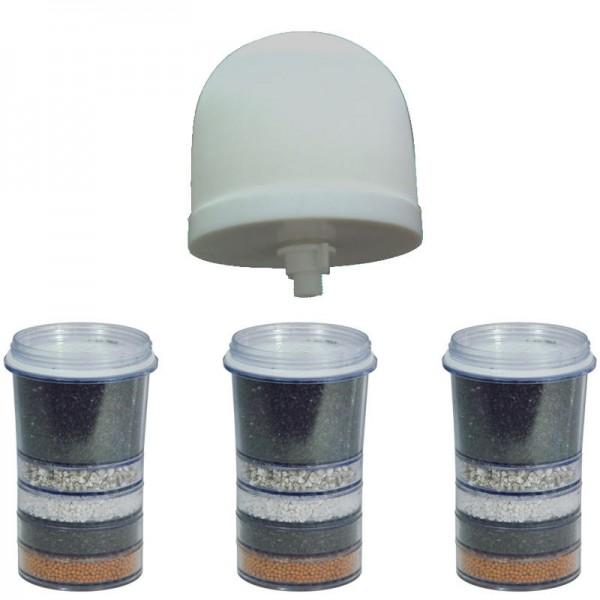 Jahres Set (3x Mehrschicht Filterelement + Keramik Mikro Filter), 4 Stück - Pure Water Pot