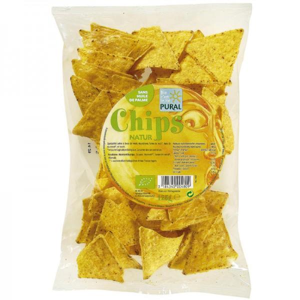 Mais Chips Natur Bio, 125g - Pural
