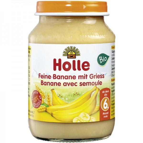 Feine Banane mit Griess Früchtegläschen Bio, 190g - Holle