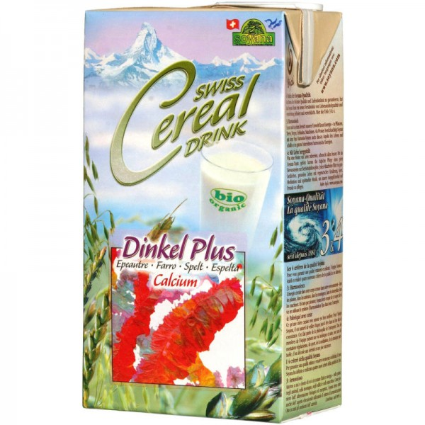 Dinkel Plus Calcium Swiss Cereal-Drink Bio, 1L - Soyana