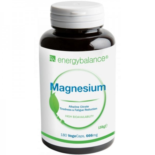 Magnesium Citrat 105mg, 180 VegeCaps - Energybalance