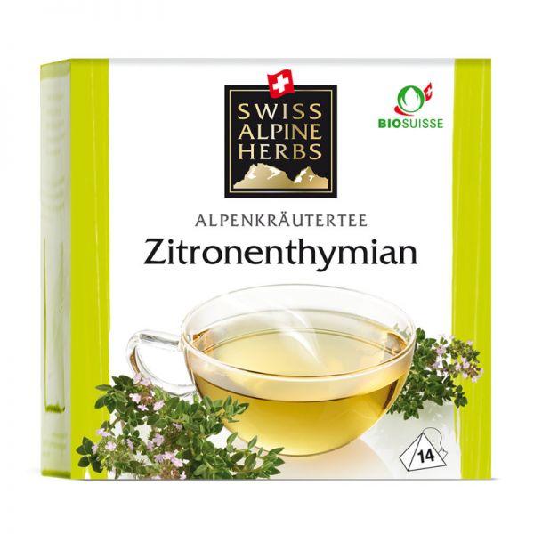 Zitronenthymian Tee Bio, 14x1g - Swiss Alpine Herbs