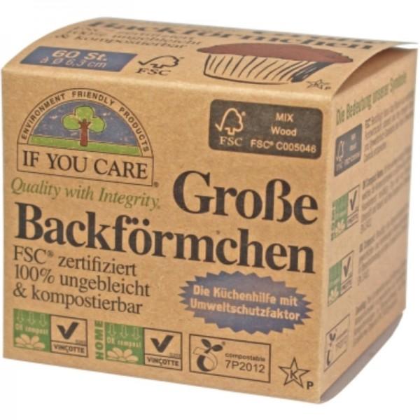 Backförmchen Gross Durchmesser 6.3 cm, 60 Stück - If You Care