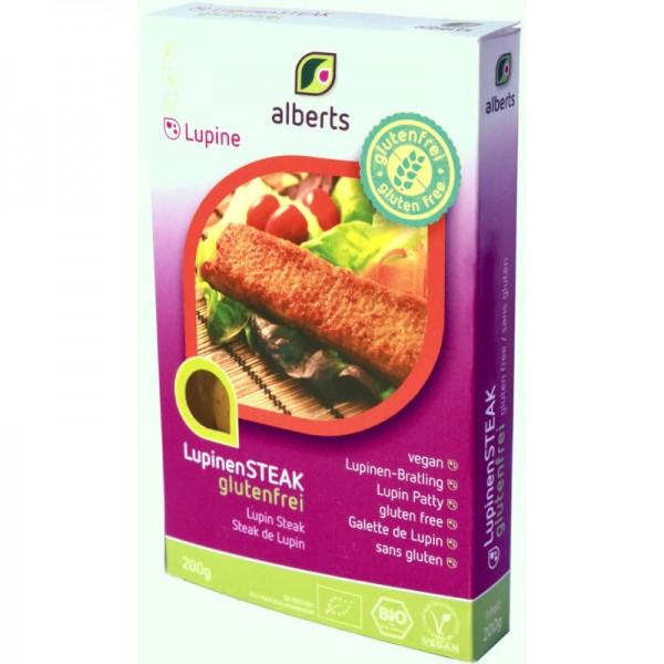 LupinenSTEAK glutenfrei Bio, 200g - Alberts