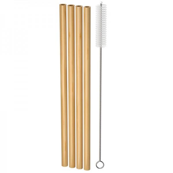 Bamboo Drinking Straws, 4 Stück - nordics