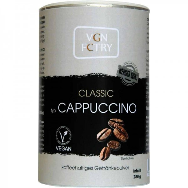 Instant Cappuccino Classic WENIGER SÜSS!, 280g - VGN FCTRY