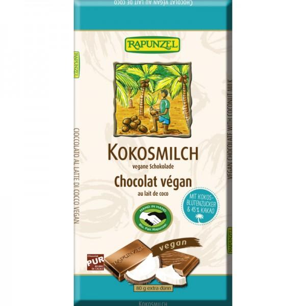 Kokosmilch vegane Schokolade Bio, 80g - Rapunzel