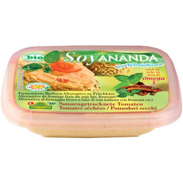 Sonnengetrocknete Tomaten Frischkäse Soya-Alternative Soyananda Bio, 140g - Soyana