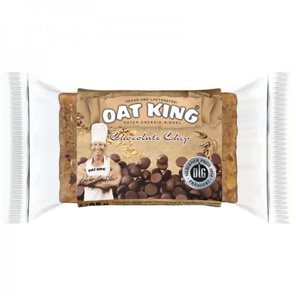 Chocolate Chip Energie Riegel, 95g - Oat King