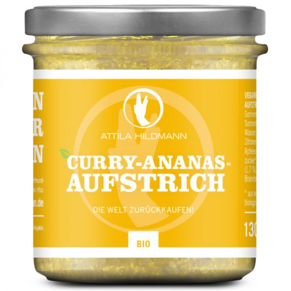 Curry-Ananas-Aufstrich Bio, 130g - Attila Hildmann