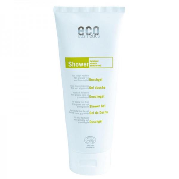 Duschgel belebend mit grünem Tee & Granatapfel, 200ml - eco cosmetics