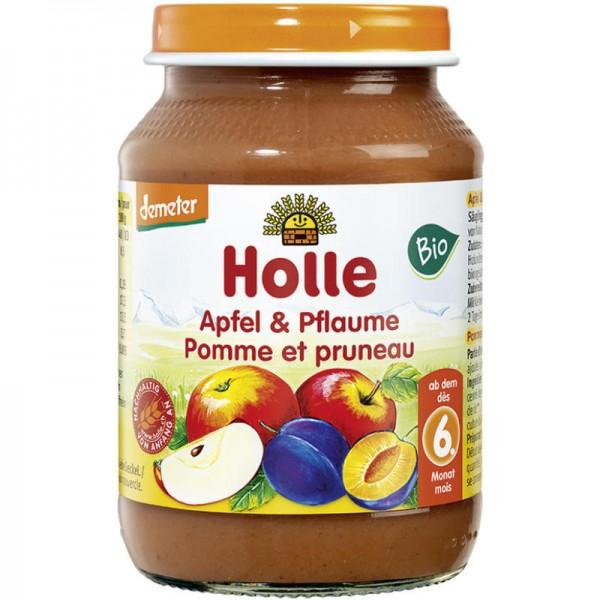 Apfel & Pflaume Früchtegläschen Bio, 190g - Holle