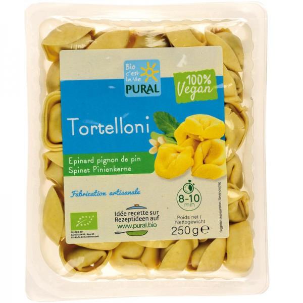 Tortelloni mit Spinat & Pinienkernen Bio, 250g - Pural