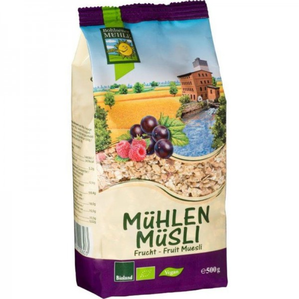 Frucht Mühlen Müsli Bio, 500g - Bohlsener Mühle