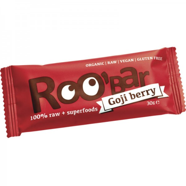 Goji Berry Rohkost Riegel Bio, 30g - Roo'Bar