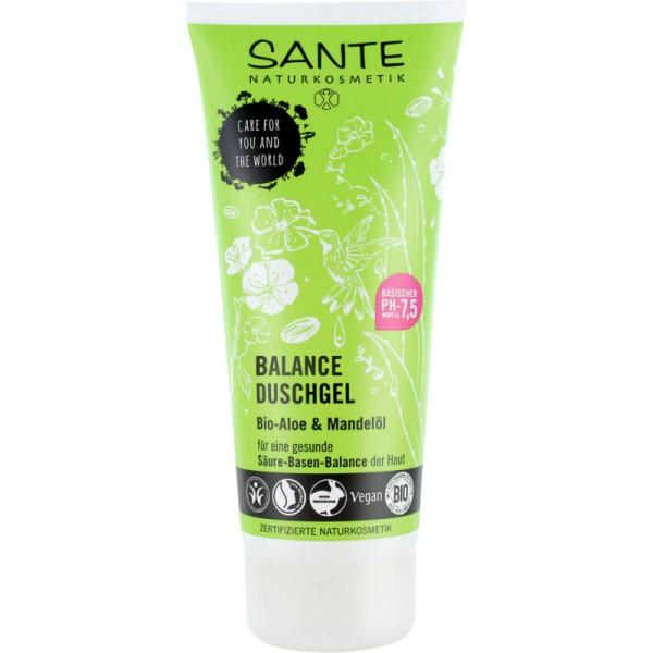 Balance Duschgel Bio-Aloe & Mandelöl Säuren-Basen-Balance, 200ml - Sante