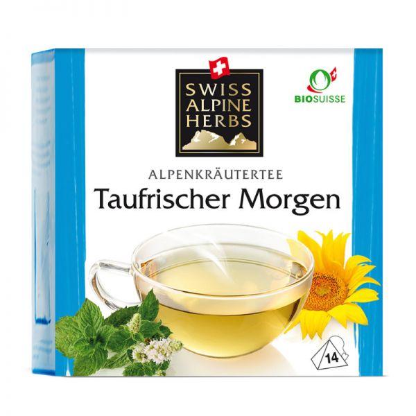 Taufrischer Morgen Tee Bio, 14x1g - Swiss Alpine Herbs