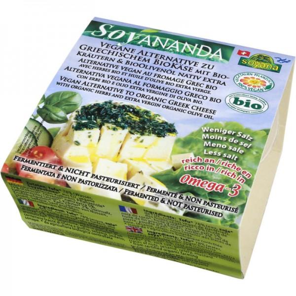 Griechische Vegane Käse-Alternative mit Kräutern & Olivenöl Soyananda Bio, 200g - Soyana