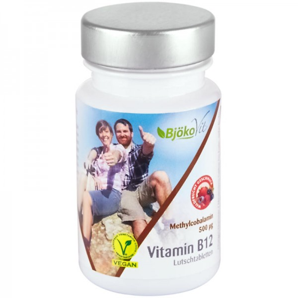 Vitamin B12 Methylcobalamin 500µg Waldfrucht Lutschtabletten, 60 Stück - BjökoVit
