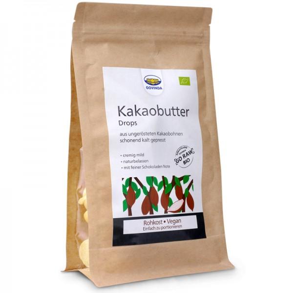 Kakaobutter Drops Bio, 200g - Govinda