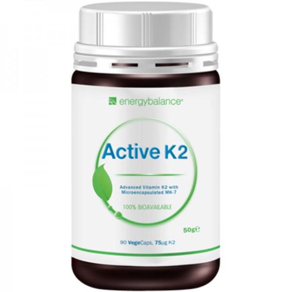 Vitamin K2 active advanced MK-7 75µg, 90 VegeCaps - Energybalance