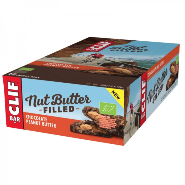 Nut Butter Filled Chocolate Peanut Butter Bio Box, 12 Stück - Clif Bar