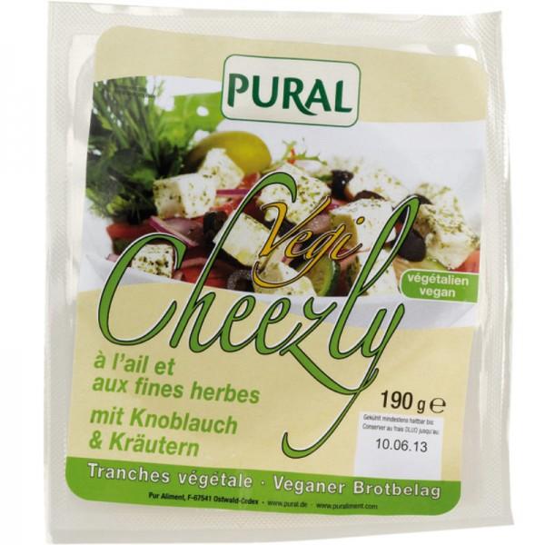 Vegi Cheezly mit Knoblauch & Kräutern, 190g - Pural