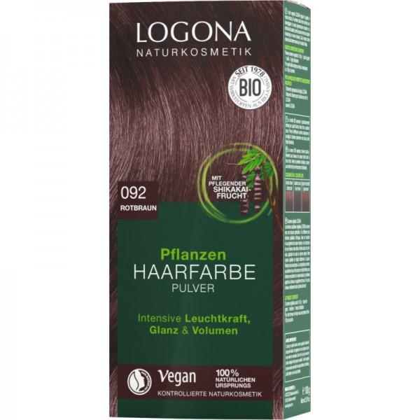 Pflanzen Haarfarbe 092 rotbraun, 100g - Logona