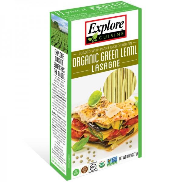Lasagne aus Grünen Linsen Bio, 250g - Explore Cusine