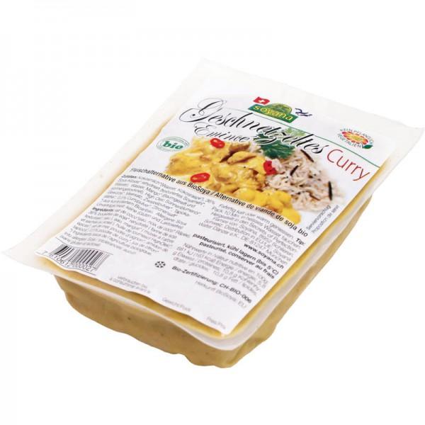 Geschnetzeltes Curry Fleischalternative aus Soya Bio, 200g - Soyana
