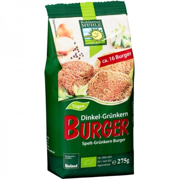 Dinkel-Grünkern Burger Mischung Bio, 275g - Bohlsener Mühle