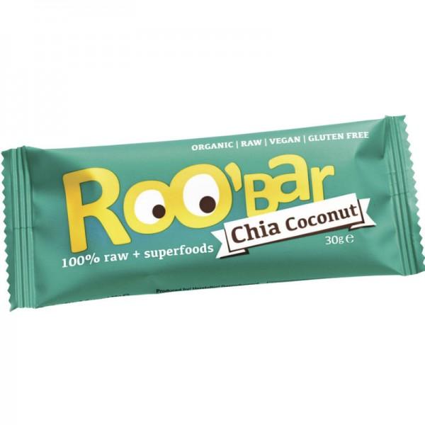 Chia Coconut Rohkost Riegel Bio, 30g - Roo'Bar