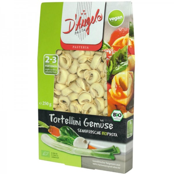 Tortellini Gemüse Bio, 250g - D'Angelo Pasta