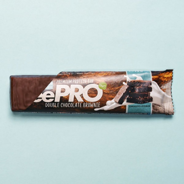 veePRO Premium Protein Bar Double Chocolate Brownie, 74g - Profuel