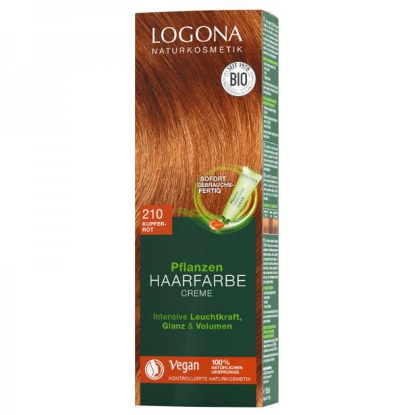 Pflanzen Haarfarbe Creme 210 kupferrot, 150ml - Logona