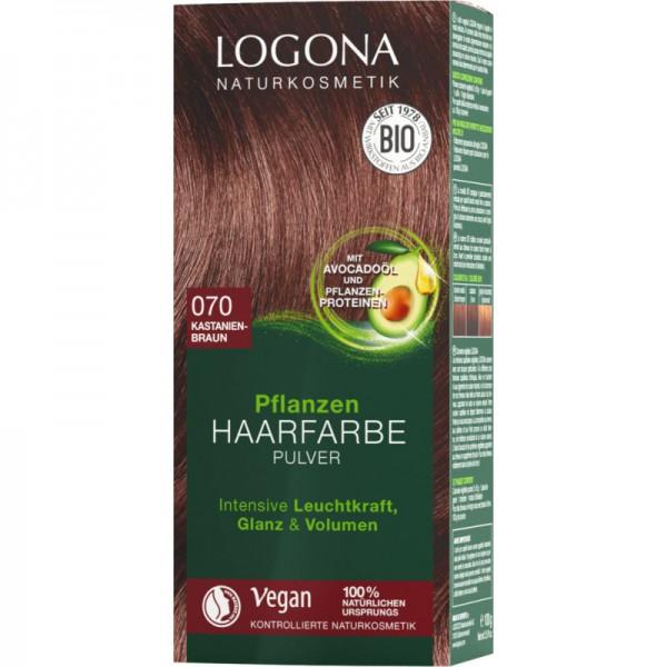 Pflanzen Haarfarbe 070 kastanienbraun, 100g - Logona