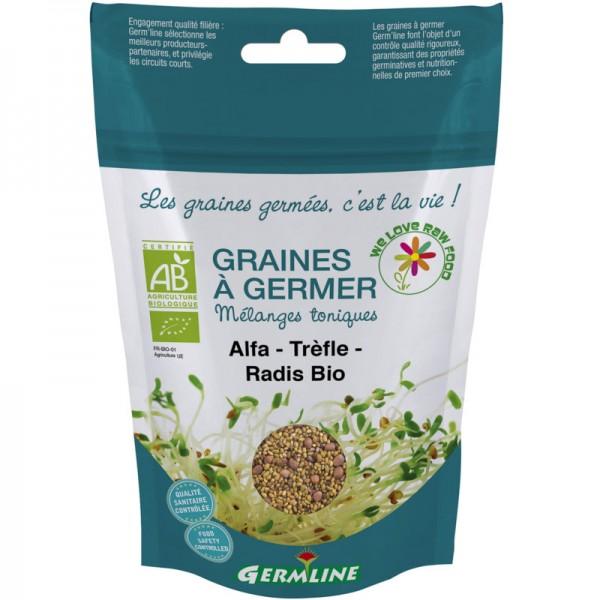 Keimsaat Alfalfa-Klee-Rettich Beutel Bio, 150g - Germline
