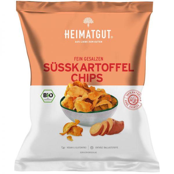 Süsskartoffel Chips fein gesalzen Bio, 100g - Heimatgut