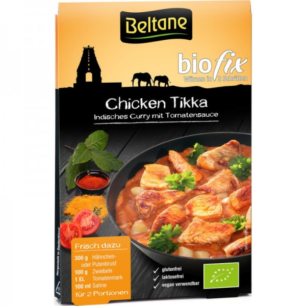 Chicken Tikka Biofix Würzmischung Bio, 25,1g - Beltane